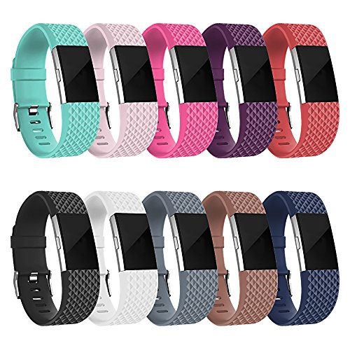 SKYLET for Fitbit Charge 2 Bands, Silicone Replacement